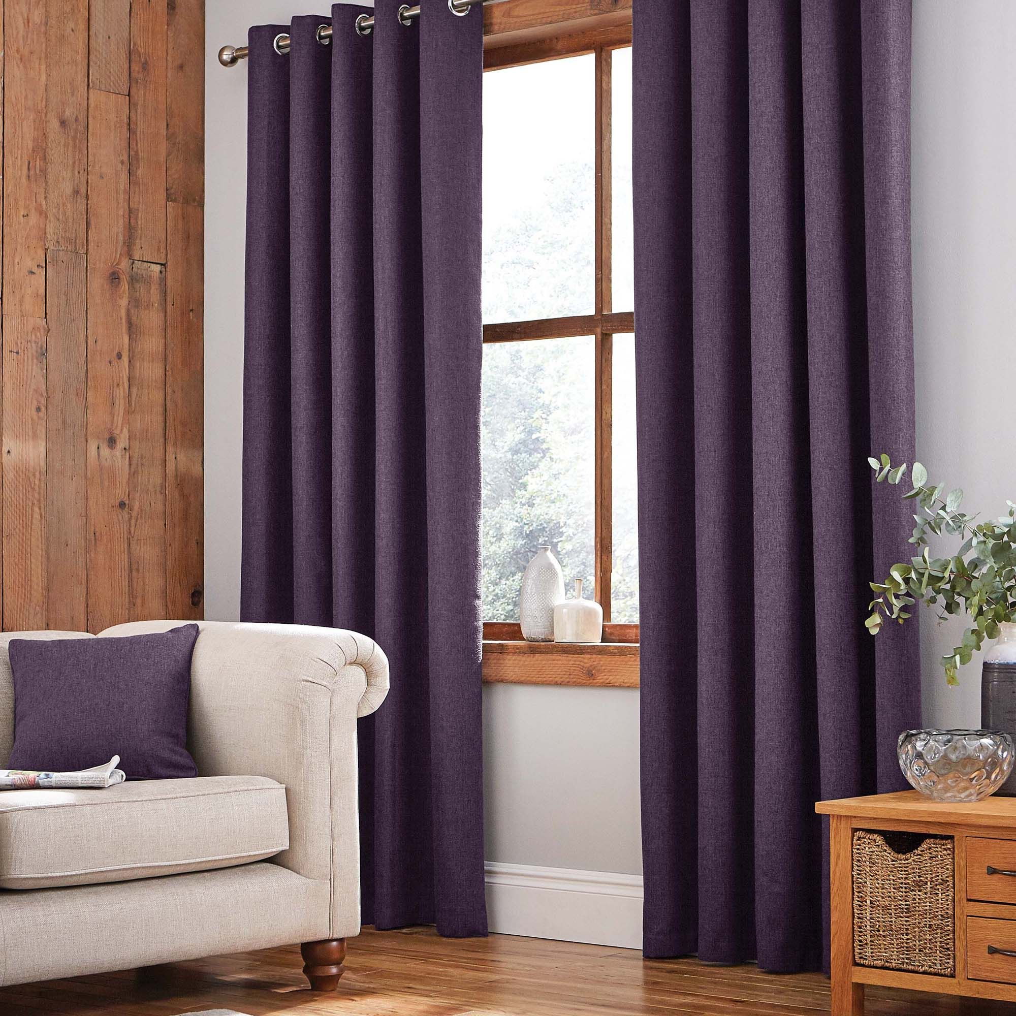 Jennings Aubergine Thermal Eyelet Curtains Eyelet Curtains Design Charcoal Curtains Living Room Blinds #summer #living #room #curtains