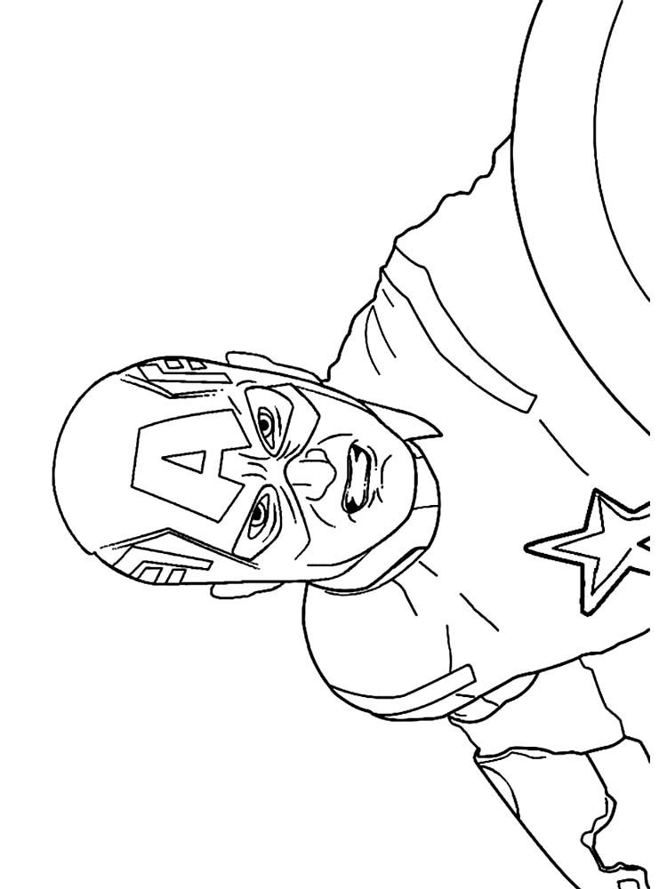 Captain America Shield Coloring Page Free. Below is a