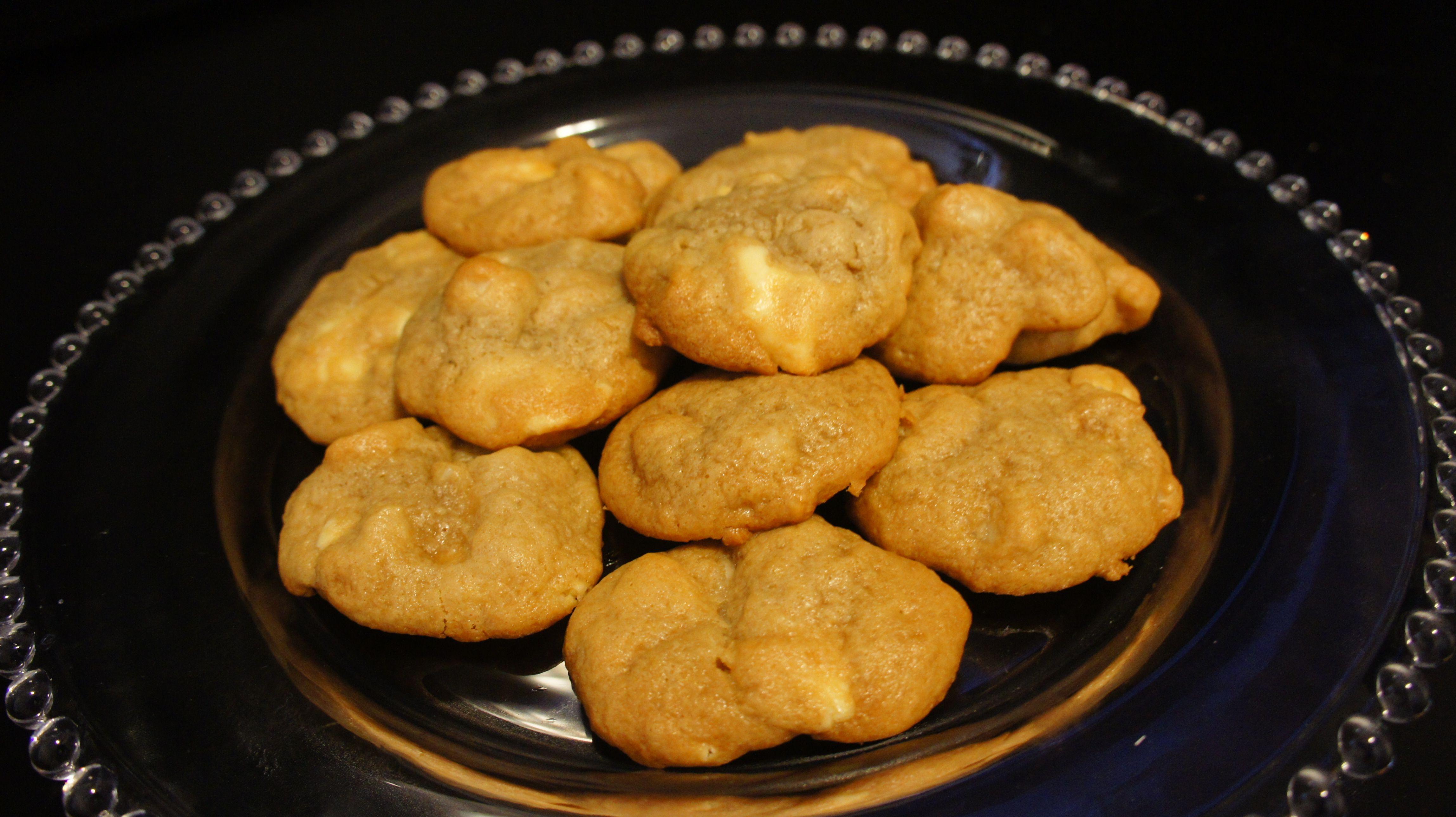Cookies de macadâmia e chocolate branco / Macadamia and white chocolate cookies
