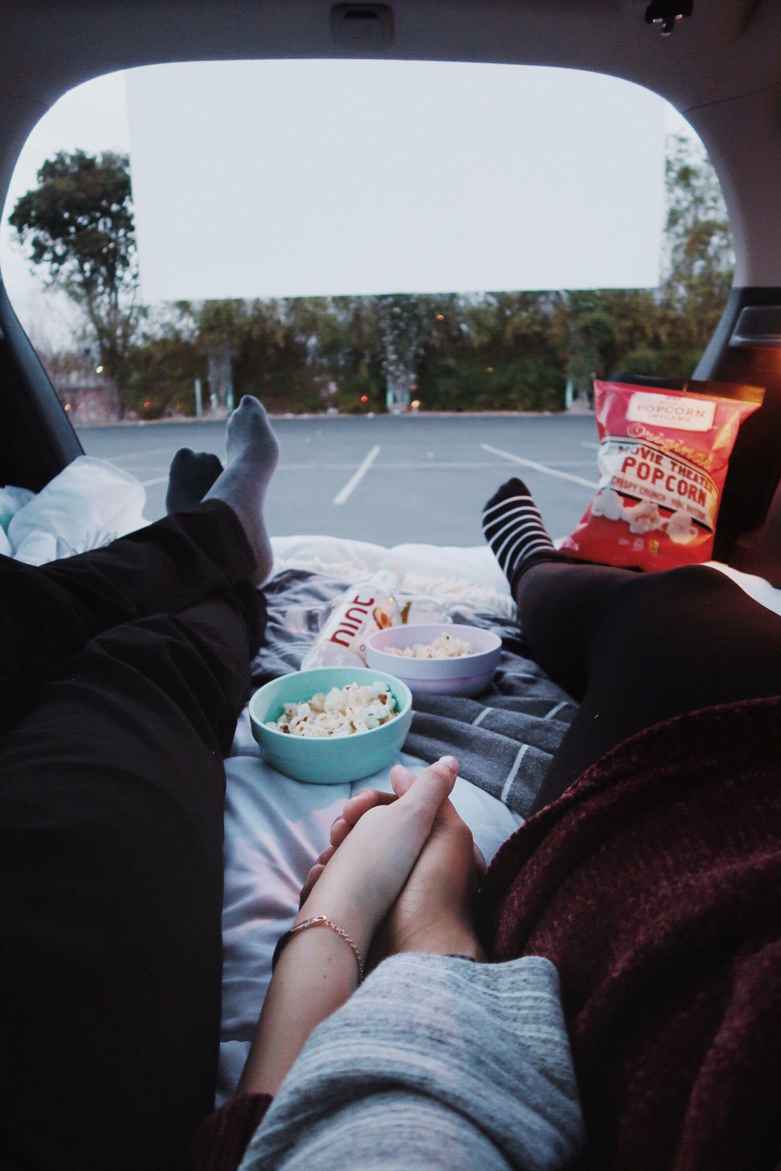 Drive in movie date night
