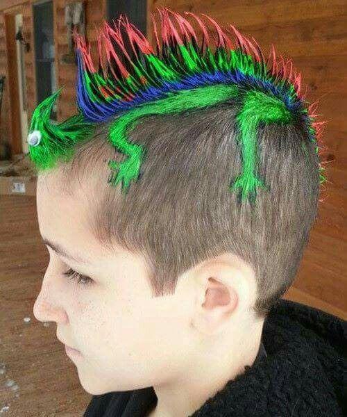 Good Idea For Boys For Crazy Hair Day Wacky Hair Wacky Hair Days Crazy Hair Day At School