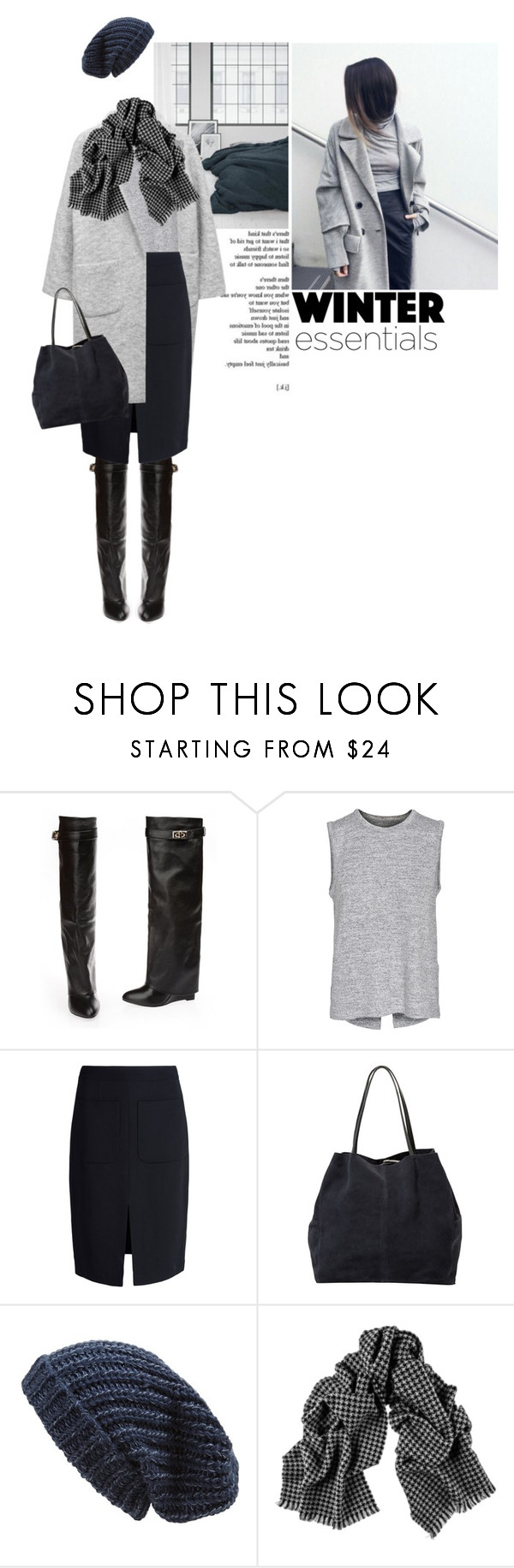 """""""winter chic"""" by a-a-nica ❤ liked on Polyvore featuring Ganni, rag & bone, L'Agence, MANGO and Phase 3"""