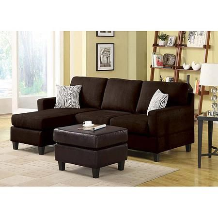 Brown Sectional Sofa Sofas Loveseats Amp Sectionals Walmart Com Sectional Sofa With Chaise Microfiber Sectional Sofa Sectional Sofa