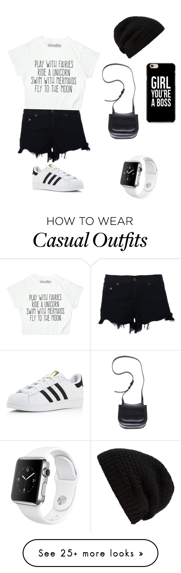 """""""Casual"""" by siviascarlet on Polyvore featuring rag & bone, adidas, The Row, Rick Owens and Apple"""