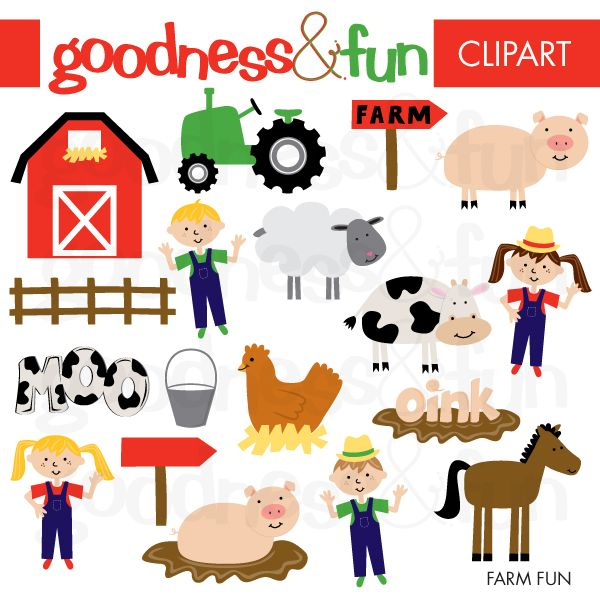 Illustrations Cliparts Farm Fun My Grafico Digital Arts And Crafts Stor Farm Fun Farm Activities Farm Theme