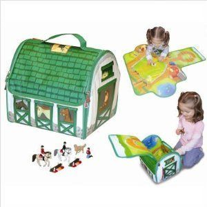 Country Stable Playset with Toys by NO. Save 55 Off!. $14.39. Stackable, portable and collapses flat for storage. Clear label holder for identifying contents. Two barns a pond a training paddock and ample corral. Colorful durable wipe-clean surfaces. Sturdy heavy-duty zippers. Unique and colorful, this soft-sided set opens up to reveal a world of possibilities. The soft barn converts into a rider's delight. The playscape features two barns, a pond, training paddock and ample corr...