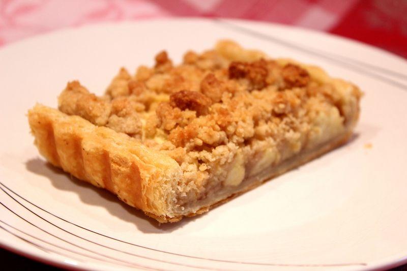 Tarte aux pommes à la crème de marron et crumble