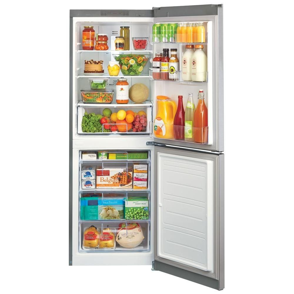 Lg Electronics 10 Cu Ft Bottom Freezer Refrigerator In Platinum 24 Wide 899 Bottom Freezer Refrigerator Bottom Freezer Refrigerator