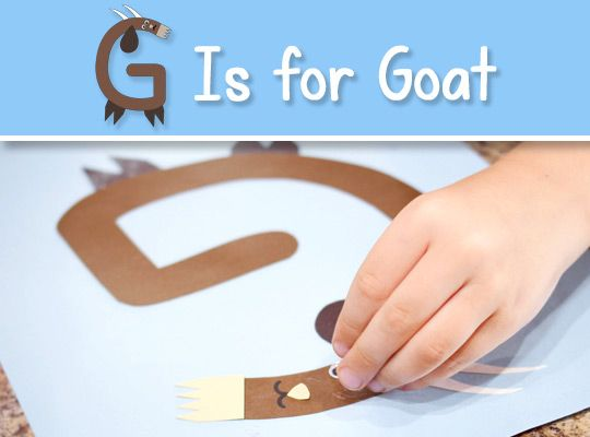 letter g is for goat craft free printable template