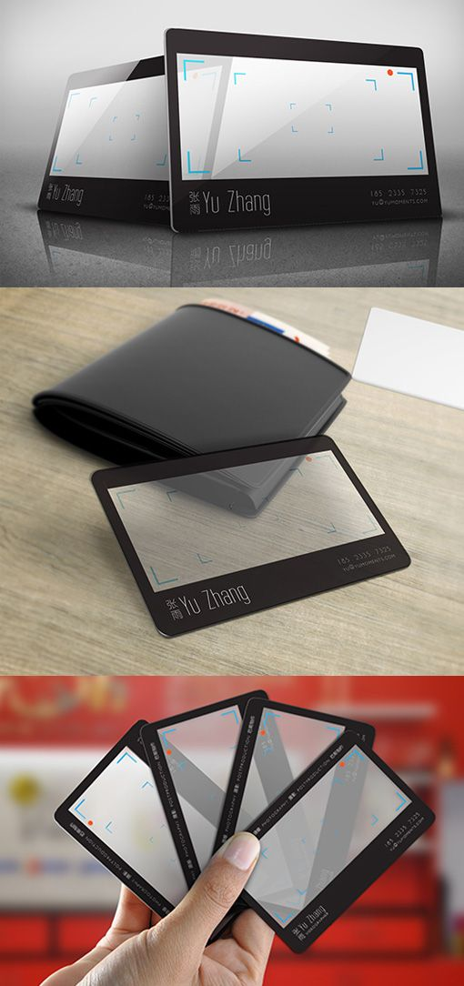 Clever Clear Plastic Viewfinder Business Card Design For A ...