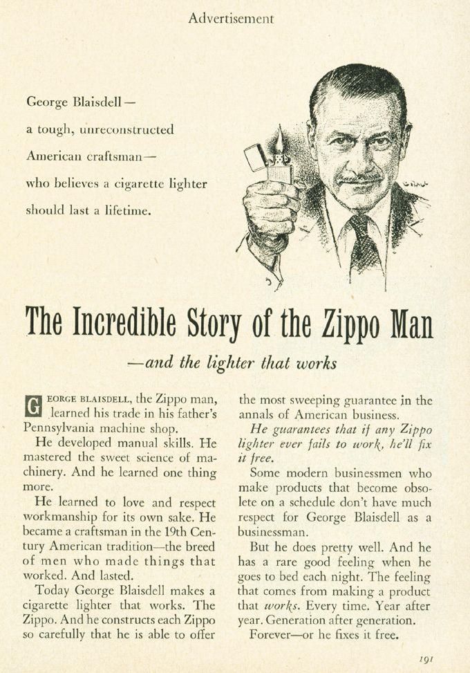 Pin On Zippo Ads