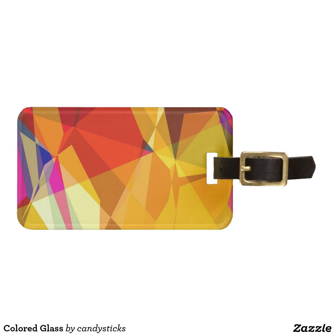 Coloured Glass Tags For Luggage