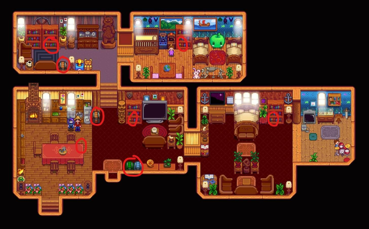 House Chests Stardew Valley Stardew Valley Stardew Valley Tips Stardew Valley Layout Whether you upgrade your house, coop, barn, or whatever else, they will always stay the same size on the outfit. house chests stardew valley stardew