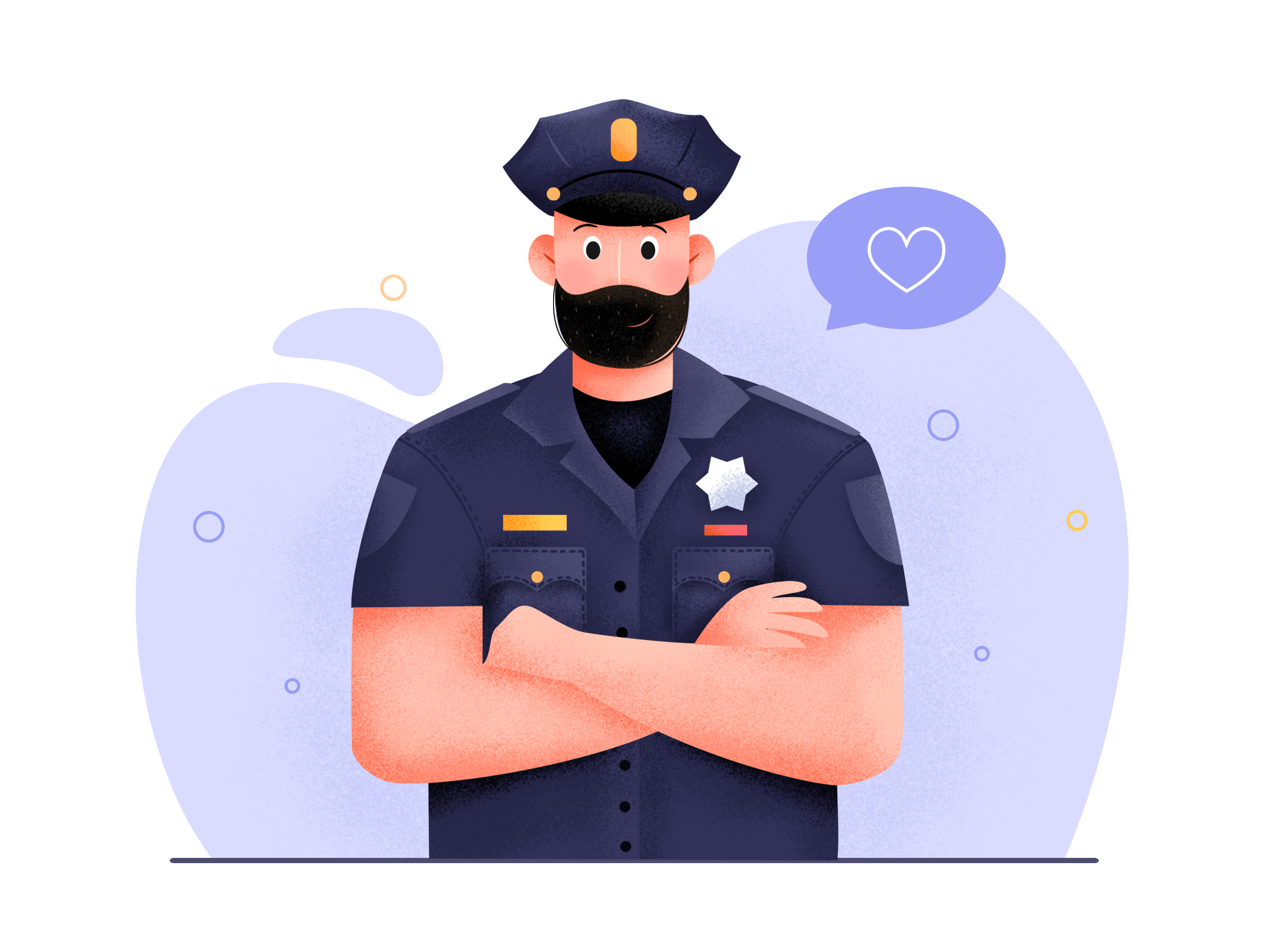 Police Vector Character Design Character Design Graphic Illustration