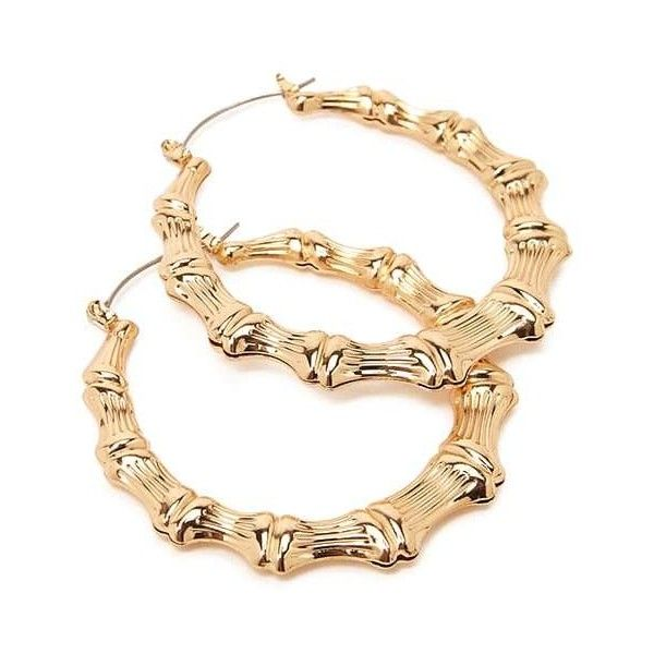 Forever21 Bamboo Inspired Hoop Earrings 3 90 Liked On Polyvore Featuring Jewelry