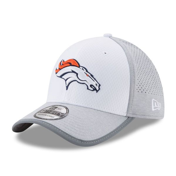 premium selection 3af03 0af76 Denver Broncos New Era 2017 Training Camp 39THIRTY Flex Hat - White -  33.99