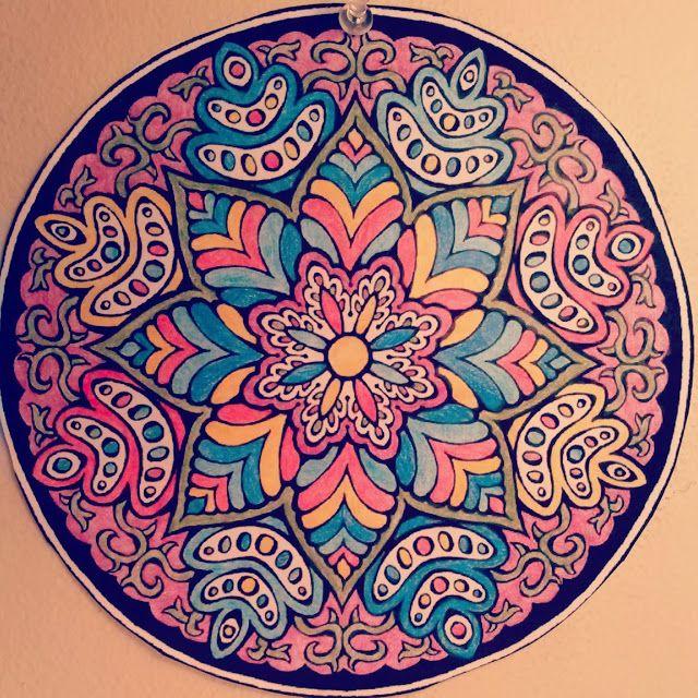 Colored Pencil No 8 Hamsa Art Mandala Art Mandala Coloring