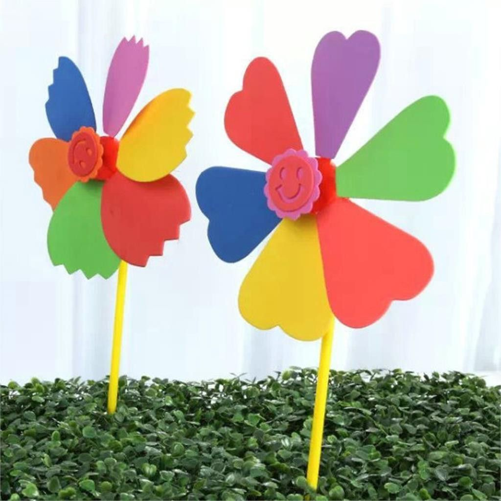 Random 1piece Colorful Windmill Toy Baby Boy Girl Windmill Diy