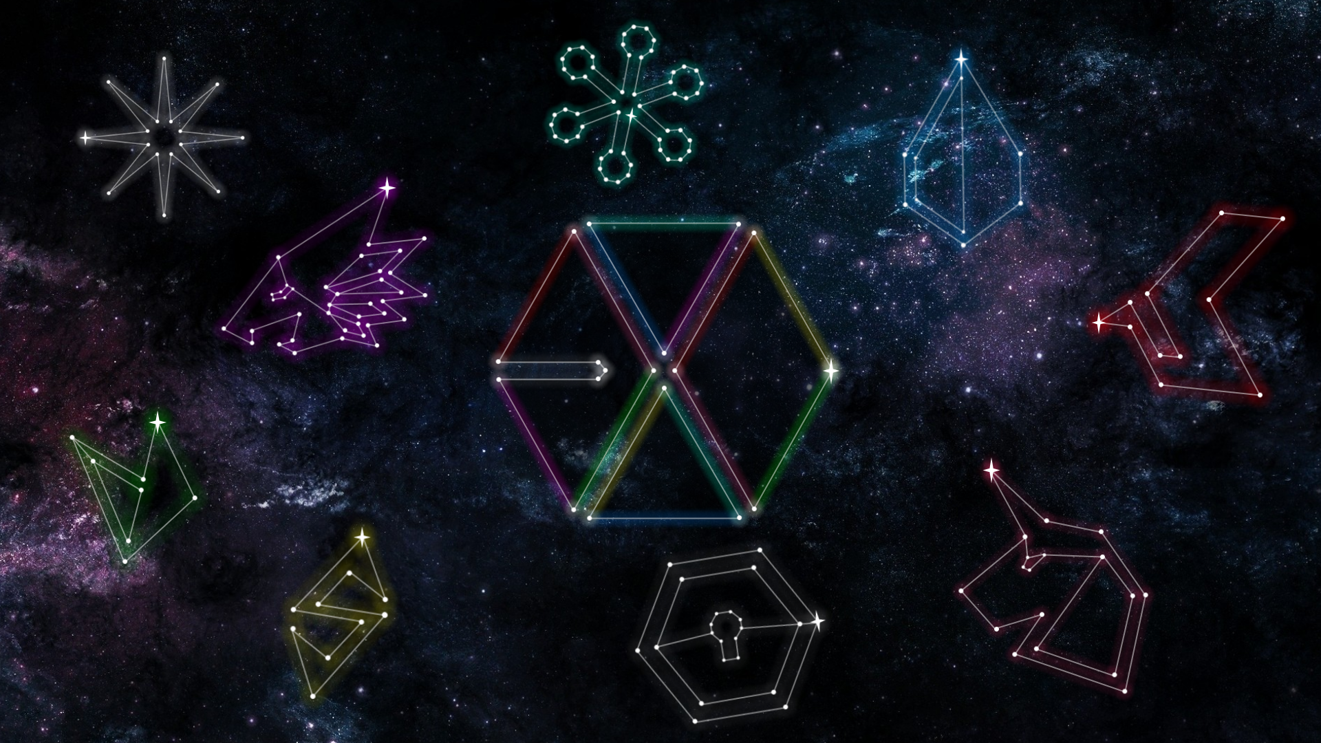 Exo Constellation Pc Wallpaper C Exoslotto Do Not Edit Insta Ohsorryprue Spam Pruesorryoh Hi Feel Free T Exo Chibi Fanart Exo Chibi Give It To Me