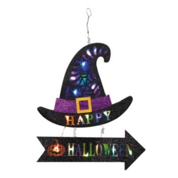 Happy Halloween Light Up Witch S Hat Wall Decor Halloween Lights Halloween Home Decor Happy Halloween