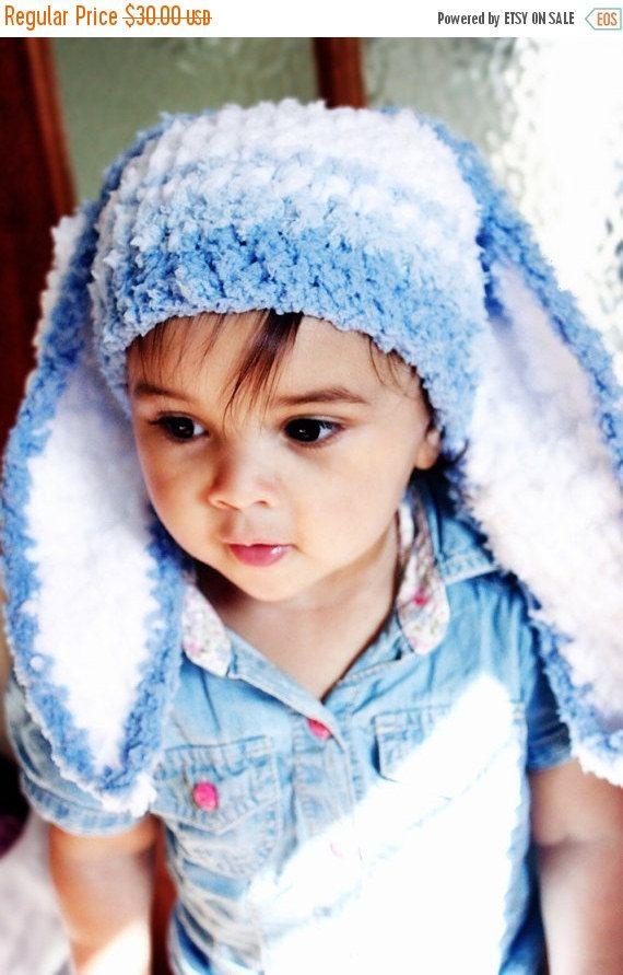 CHRISTMAS SALE 5T to Teen Stripe Bunny Hat, Kids Rabbit Hat, Boy Bunny Blue Stripe Hat, Childrens Easter Bunny Hat Blue White Bunny Ears Photo Prop #baby #children #kids #kidsfashion #girlhat #boyhat #babyboy #babygirl #easter #bunny #bunnyhat #babyhat #hat #babamoon #etsy #photoprop #bunnycostume #eastercostume #etsygifts #onsale #sale #deals #blue