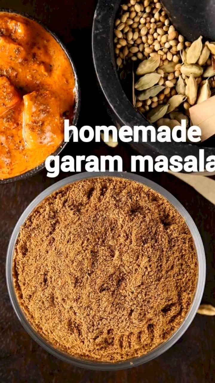 garam masala recipe how to make homemade garam masala powder video recipe video in 2020 spice recipes recipes cooking recipes desserts pinterest