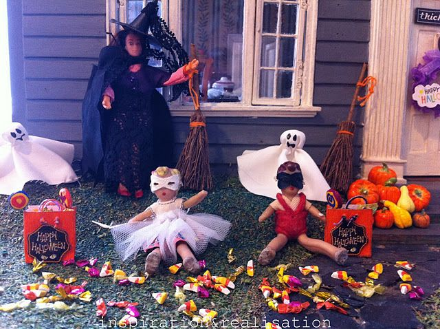 hunted dollhouse #diy #miniatures #dollhouse #haunteddollhouse