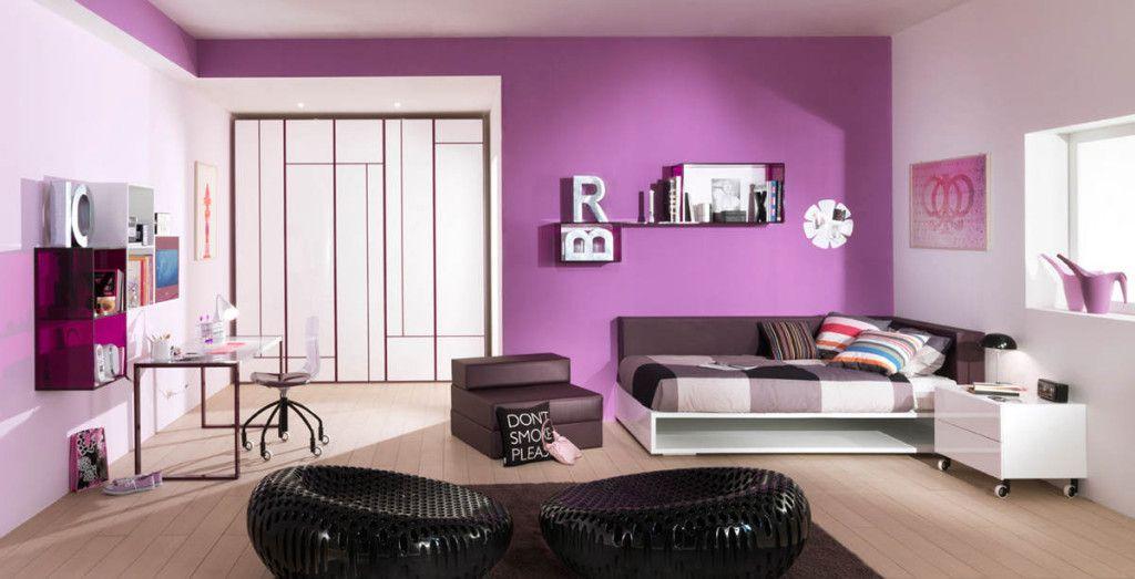 photo decoration décoration chambre adulte gris et prune 4 ...