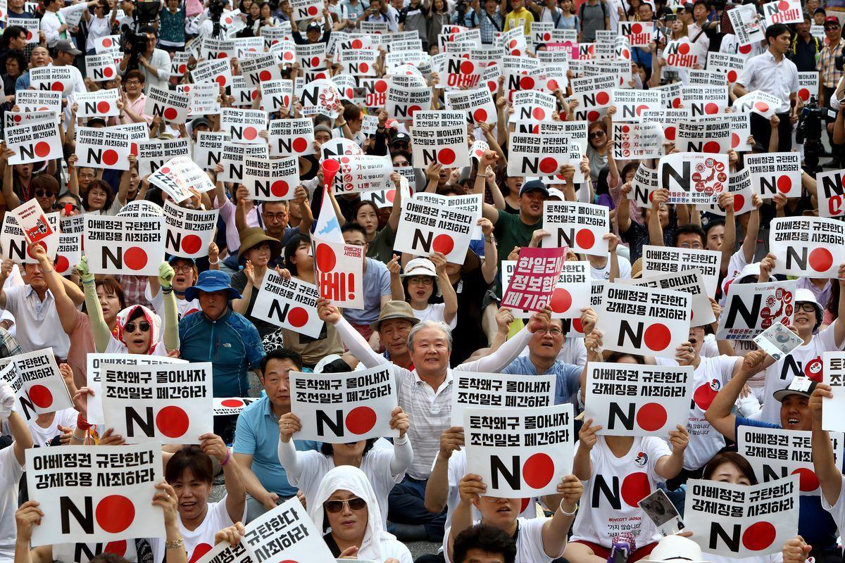 The Escalating Trade War Between South Korea And Japan Explained War South Korea War Crime