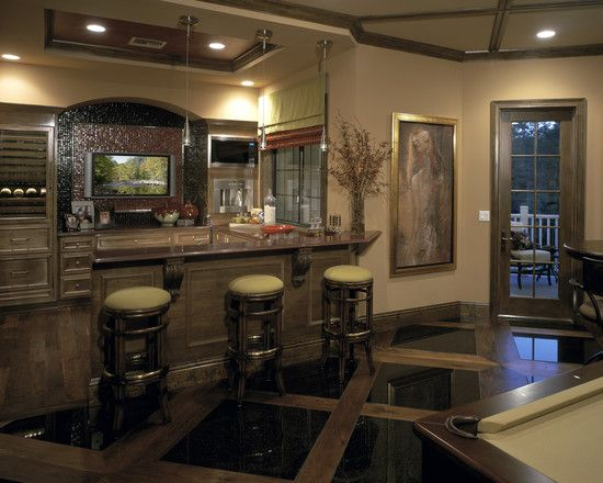 home bar, game room, theater... How awesome is that!!! | The wine ...