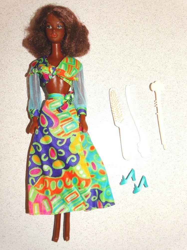 Vintage Mod Brunette Hair Fair Tnt Barbie Gc Ebay Vintage Barbie Clothes Quick Curls Barbie