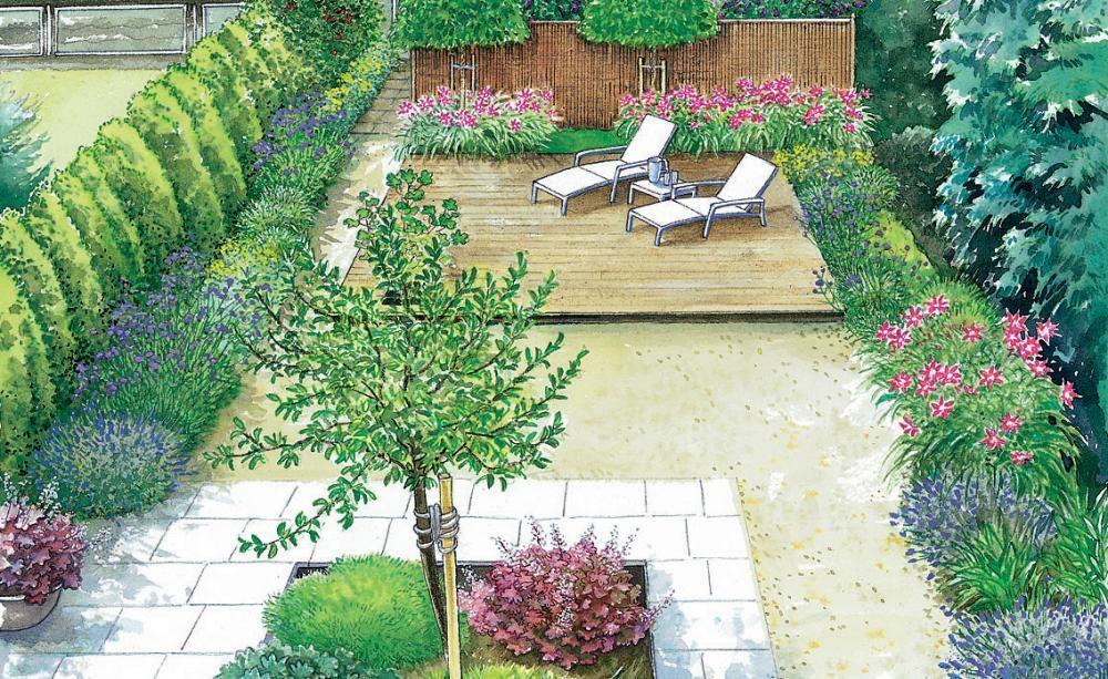 Reihenhausgarten im neuen Gewand Gardens - pflegeleichter garten modern