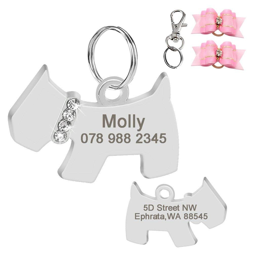 b50d5e12bb8a Didog Stainless Steel Custom Pet ID Tags for Dogs and Cats,Multi ...