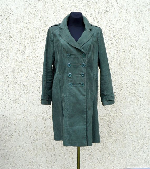 Women Trench Coat Marching band coat Lining Double by Thebestvests