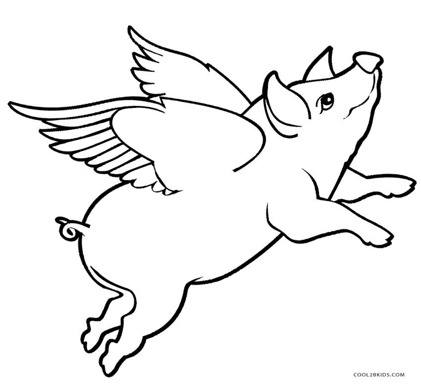 Pin By Miz Gee On Coloring Flying Pigs Art Animal Coloring