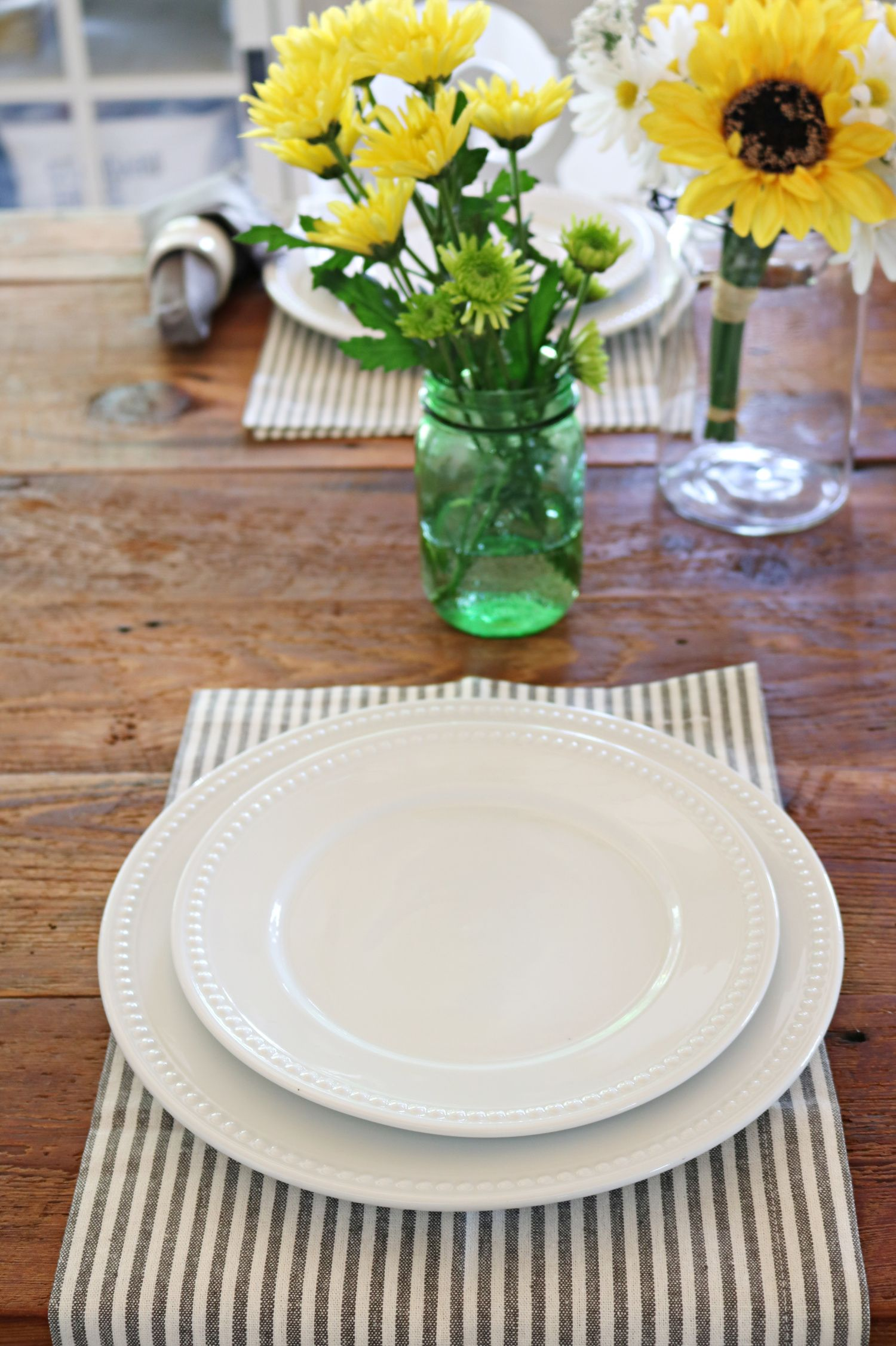 Affordable white porcelain dishes farmhouse style
