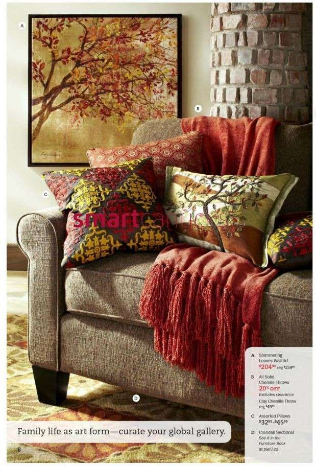 pier 1 living room rugs%0A Pier   Imports Catalog Oct   to