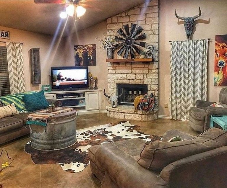 60 Comfy Farmhouse Living Room Makeover Decor Ideas Livingroomideas Livingroo In 2020 Western Living Room Decor Farmhouse Decor Living Room Farm House Living Room