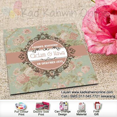 Pin By Kad Kahwin On Kad Kahwin Vintage Wedding Cards Wedding Prep Invitation Cards