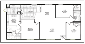S le floor plans 2 story home besides  likewise Small Cabin Plans furthermore Modular Homes 2 Bedroom Floor Plans further Fp 09 Se CypressIII TSP3446L. on large manufactured homes