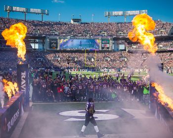 Ray Lewis Enters M Bank Stadium Picture at Baltimore Ravens Photo Store