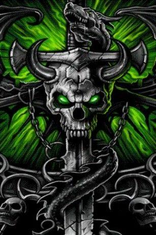 Dragon Skull Cross Live Wallpa For Android Skull Wallpaper Skull Art Skull Artwork