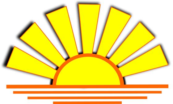 Sunset Graphic Sunscreen Graphic Sunset