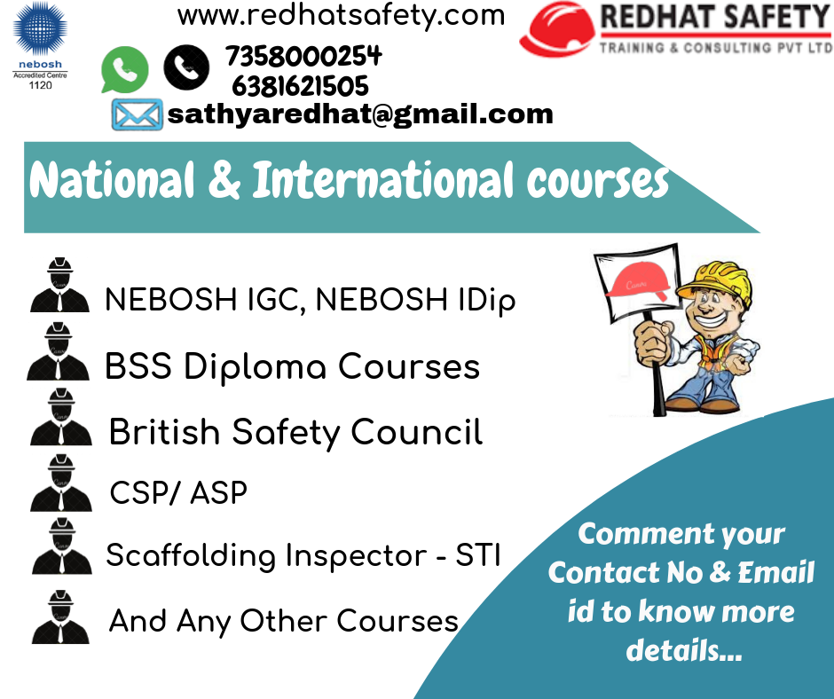 Fire and Safety Courses in Chennai (Govt) NEBOSH Course