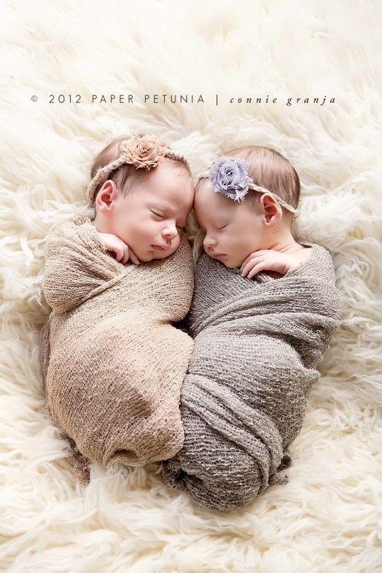 Shabby Chic Newborn Twin Girls {Delray Beach Newborn Photographer} | Paper Petunia Family Photography