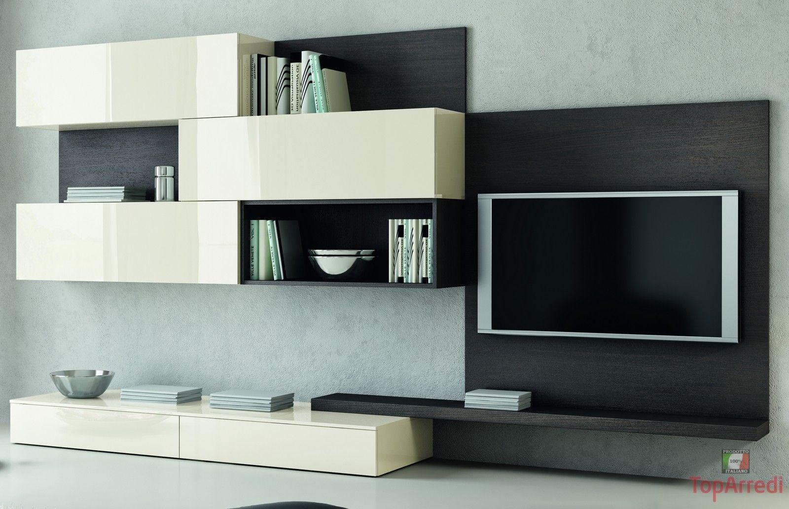 Soggiorno porta tv moderno per for Salotto con tv
