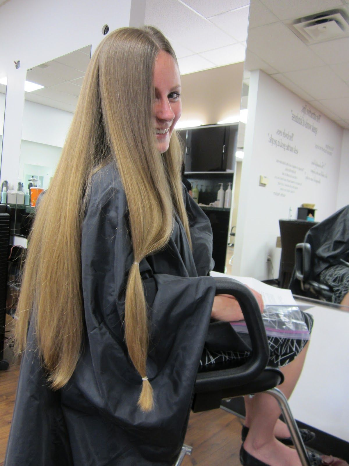 Our Beck Treks Hair For Her Before After Donation Hair By