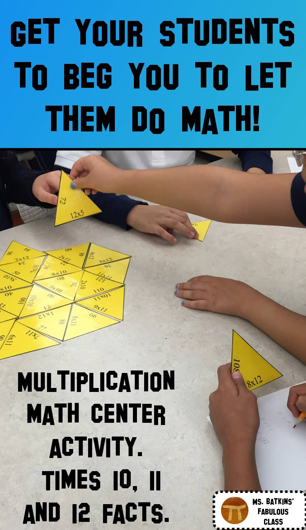 Multiplication Math Facts Puzzle for 10 , 11 , and 12 times tables ...