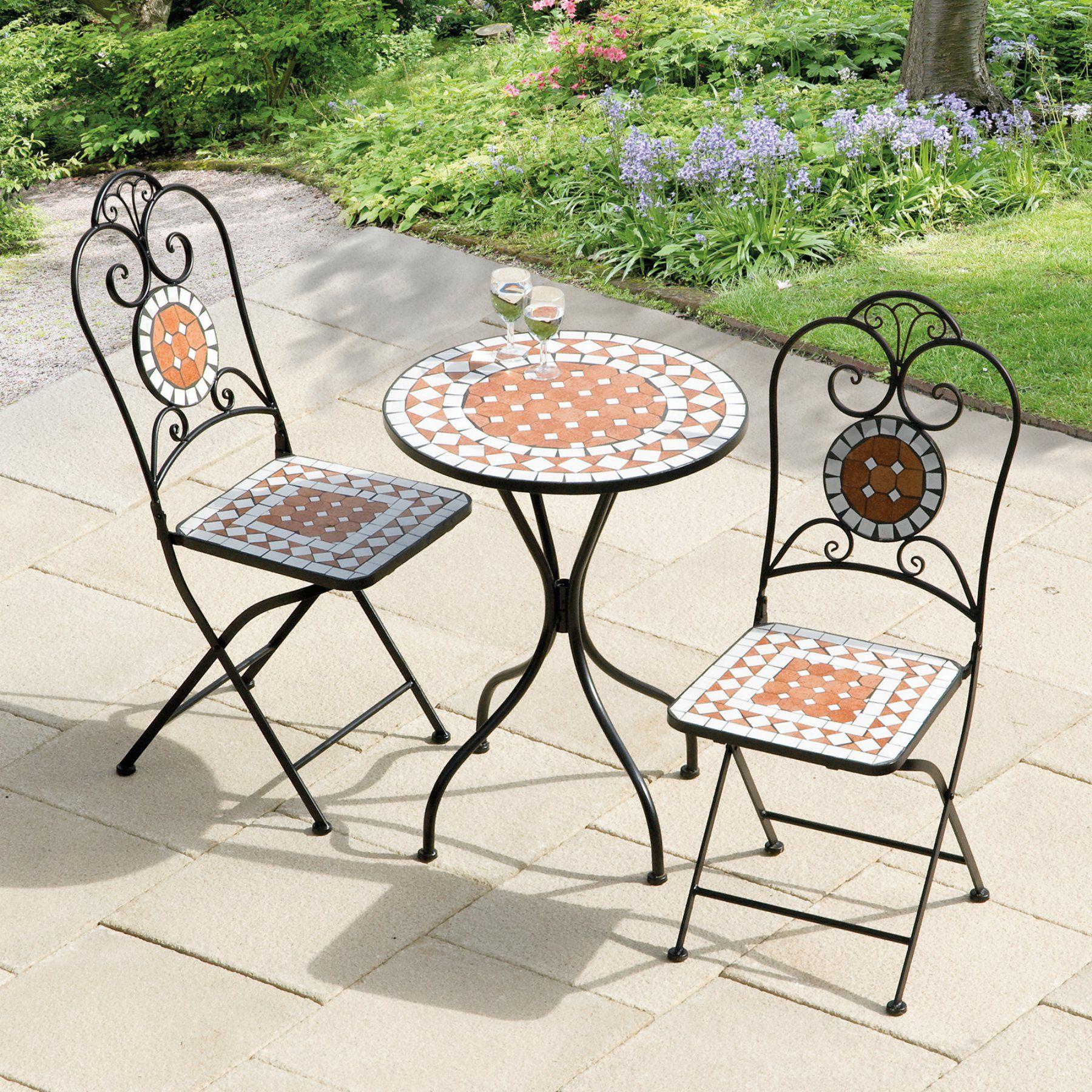 transcontinental outdoor diamond mosaic patio bistro set gf05544 rh za pinterest com