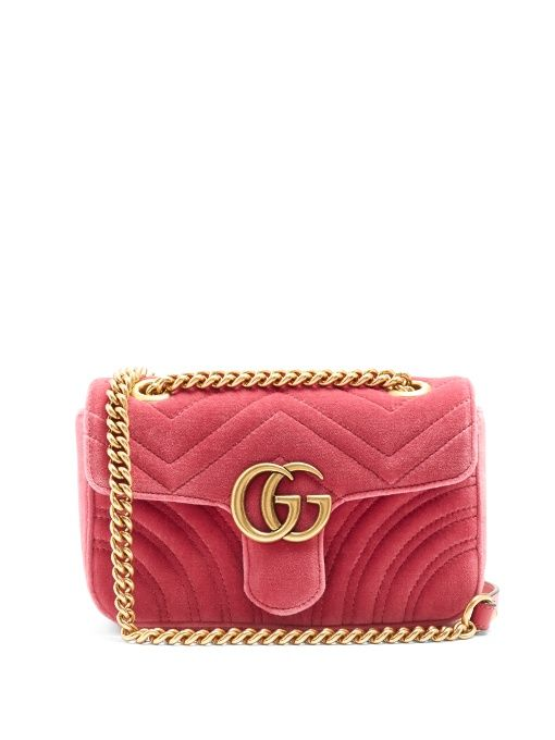 132e226a7 GUCCI Gg Marmont Mini Quilted-Velvet Cross-Body Bag. #gucci #bags #shoulder  bags #leather #velvet #lining #
